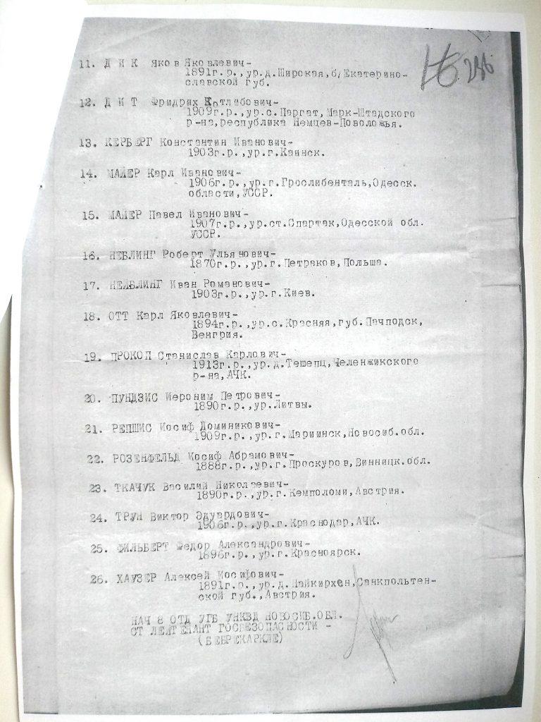 Акт 14 января 1938 года в Томске. 2